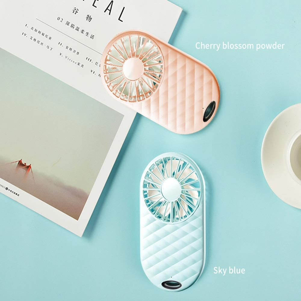 BNSDMM Mini Fan USB Charging Student Dormitory Bed Portable Light and Quiet Portable Portable Fan Color : D