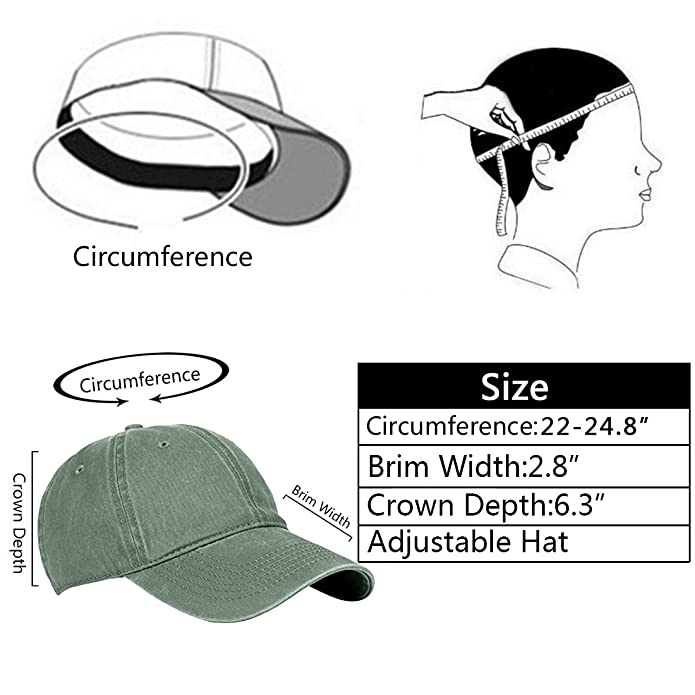 a68bc232d55 Amazon.com  Jewmond Classic Unisex Baseball Cap Adjustable Washed Dyed Cotton  Ball Hat for Men and Women Army Green  Shoes