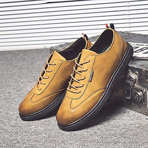 GLSHI Hommes Chaussures PU Printemps Automne Travail Formel Business Pour Bureau Occasionnel et Carrière Noir Brun Brown OmrOJM