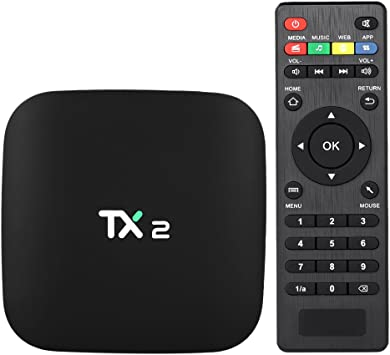 Docooler TX2 Smart Android TV Box Android 6.0 Rockchip RK3229 Quad Core UHD 4K VP9 H.265 Mini PC 2GB / 16GB DLNA WiFi LAN Media Player Enchufe de la UE: Amazon.es: Electrónica