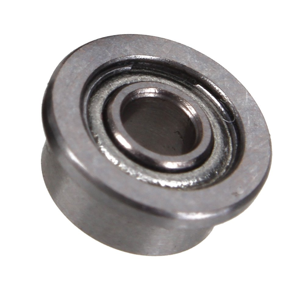 CNBTR Silver Flanged Ball Bearings MF52ZZ High Precision Shielded 2x5x2.3mm Pack of 10