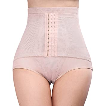 f63bbaea31b1b DODOING 3 Row Hooks Women Body Shaper High Waist Cincher Girdle Double  Compression Tummy Control Panty