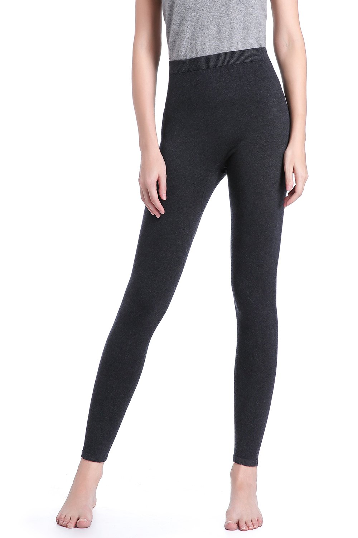 Zhili Thermal Leggings - Heavyweight, Ultra-Soft Women's Merino Wool Base Layer(Dark grey_M)