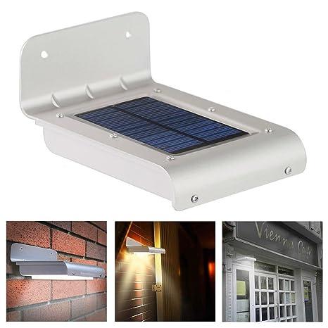 zooarts 1 lámpara con 16 LED energía Solar Sensor de ...