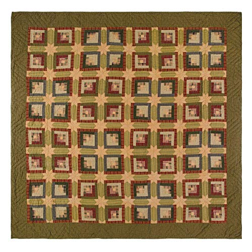 VHC Brands Rustic & Lodge Bedding - Tea Cabin Green Quilt, Luxury King
