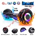 """EVERGROW Hoverboard with Bluetooth Speaker and LED Lights Self Balancing 6.5"""" 2 Wheel Electric Scooter Hover Hoover Board with Certified UL 2272 for Adults and Kids, Free Bag"""