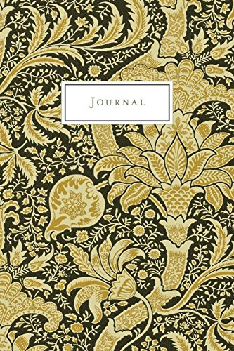Journal: Black and Gold Ornamental Vintage Floral Design - Journal, Notebook, Diary (College Ruled) (Vintage Flower and Botanical Designs - Journal, Notebook, Diary, Composition Book)