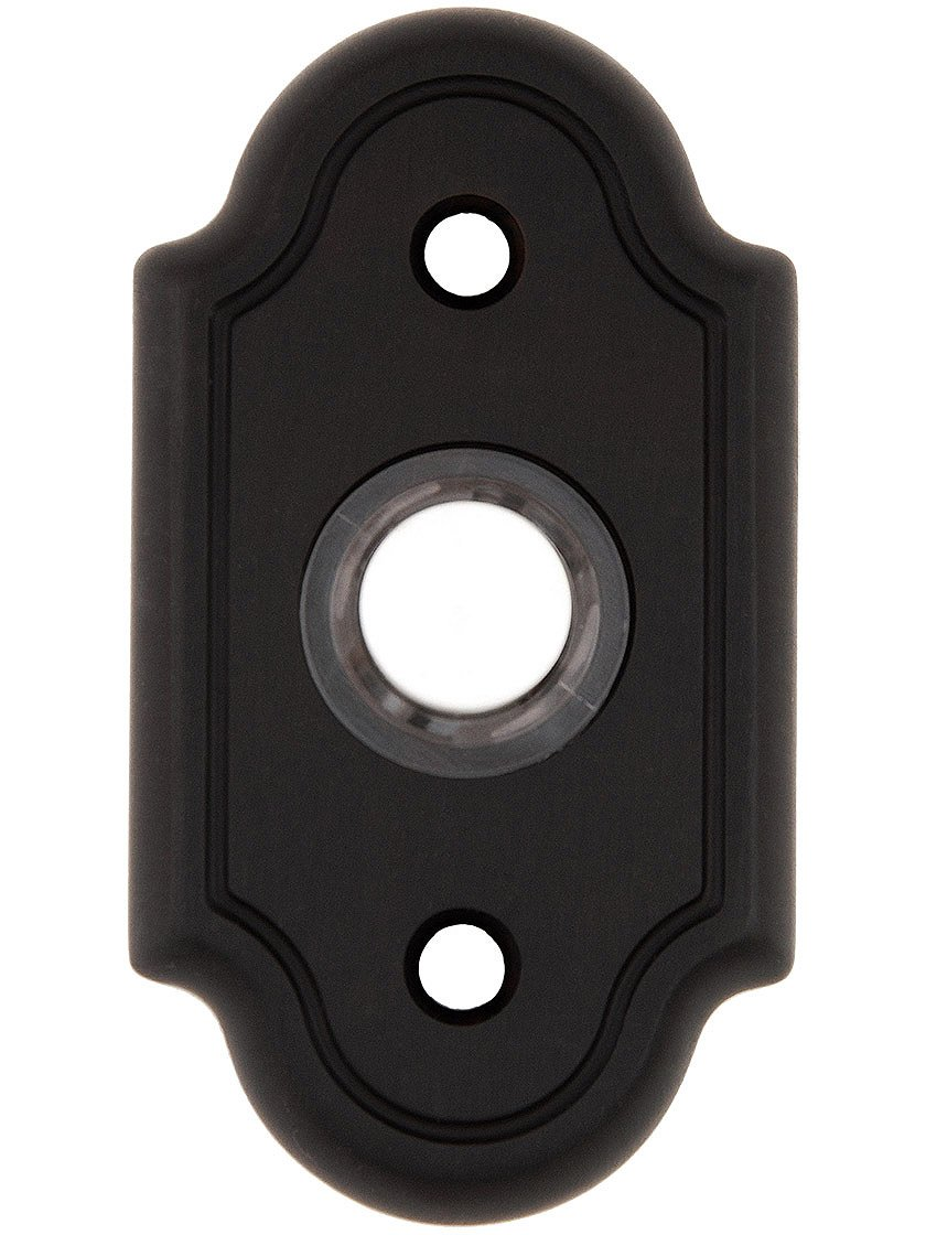 A'dor DB4.613 Solid Brass Arched Plate Doorbell Button in Oil Rubbed Bronze