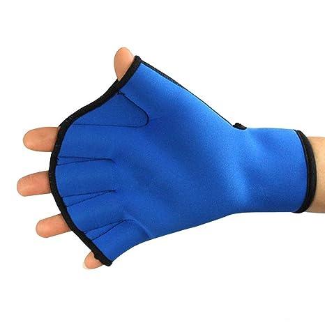 Eizur Unisex Palmeados Guantes Natación Neopreno Sin dedos Pádel Surf Deportes Paddle Mano Paletas Palmeadas Mano
