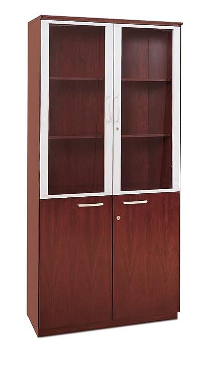 Superieur Amazon.com: Mayline VHCCRY Napoli High Wall Cabinet With Doors, Sierra  Cherry Veneer: Kitchen U0026 Dining