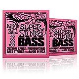 Ernie Ball 2834 Super Slinky Round Wound Bass Strings 2 Pack