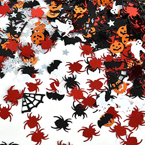 Halloween Confetti Spider Ghost Bat Pumpkin Cobweb Star