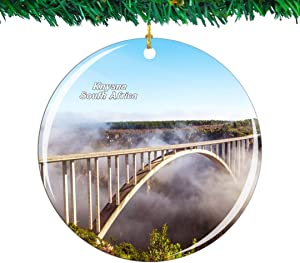 Weekino South Africa Garden Route Knysna Christmas Ornament City Travel Souvenir Collection Double Sided Porcelain 2.85 Inch Hanging Tree Decoration