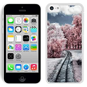NEW Unique Custom Designed iPhone 5C Phone Case With Through The Pink Woods_White Phone Case