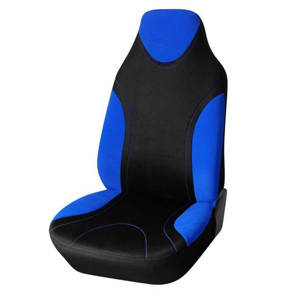 DuRone(TM) ユニバーサル車のフロントシートクッション非ローリングアップ車車快適な非スライドステッチカラーシートクッションシートカバー B078S5ZCM1青
