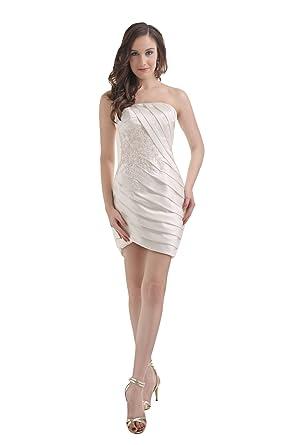 a7153e434d5a9 着痩ドレス パーティードレス 結婚式 安い ワンピース ミニドレス 大人スタイル シルバー セクシー チューブ