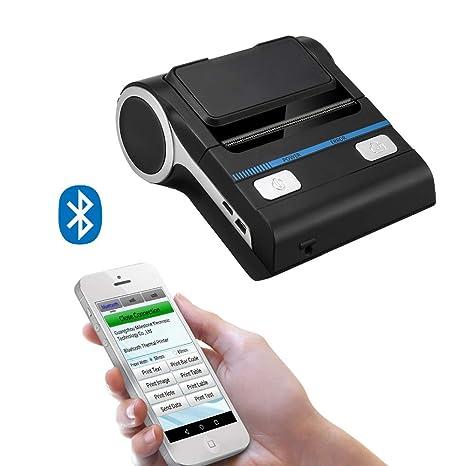 ZUKN Mini Impresora Térmica Bluetooth con Interfaz USB ...