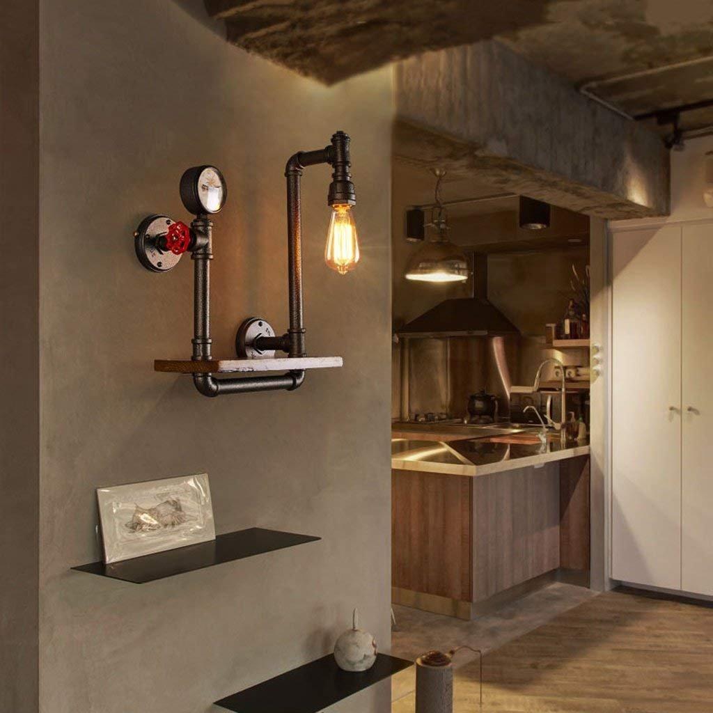 JU Wandleuchte Loft Retro Industrial Light Gang Dekoriert Balkon Lampe American Restaurant Bar Eisen Wandleuchte B07HLB3HB1 | Creative