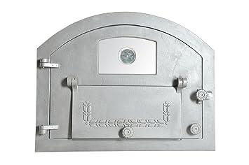 Puerta para horno de pizza, para horno de leña o de piedra, de hierro