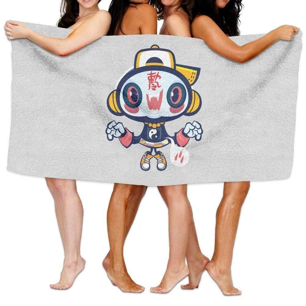 NFHRRE Women's Cottton Cute Zomebie Listen Music and Dance Bath Shower Wrap Towels