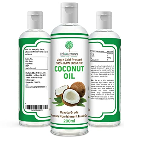 The Balance Mantra Raw Organic Virgin Coconut Oil For Skin, Hair - 200 Ml