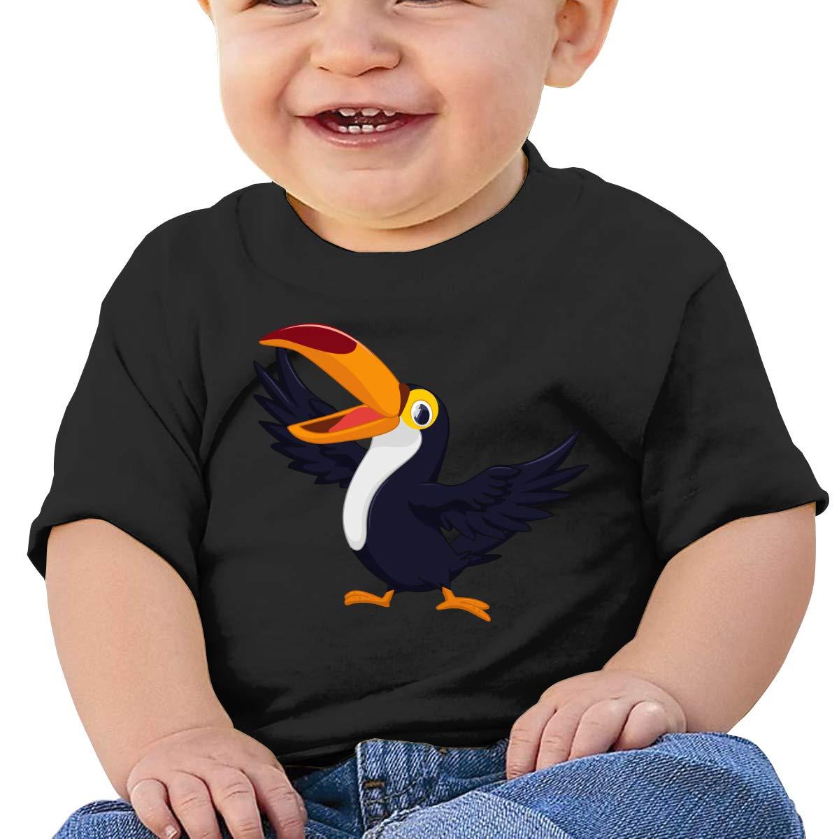 Parrot Cartoon Baby Baby Boy Newborn Short Sleeve T-Shirt 6-24 Month Soft Tops