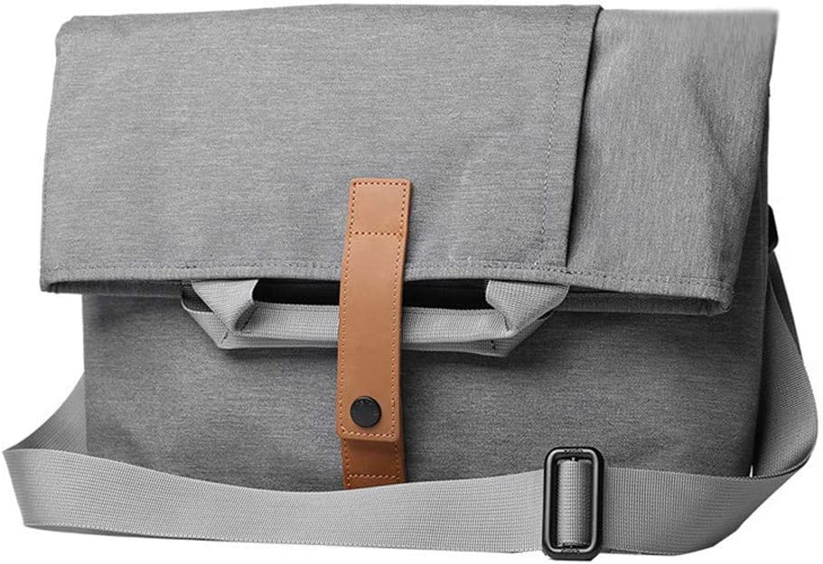 Color : Dark Gray Jaiconfiance Men Leather Briefcase Scalable Briefcase Mens Business Bag Comfortable Top Handle Diagonal Multi-Function Large Capacity Men Vintage Leather Messenger Bag