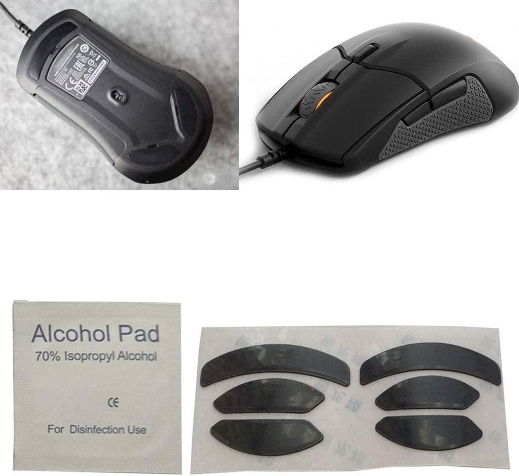 CUCUDAI 2Pcs 0.6mm Thickness Replace Mouse Feet Mouse Skates for for SteelSeries Sensei 310 Mouse