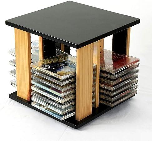 Nai-storage Rotación de Soporte for CD de Escritorio, Sala de Juegos Cine Club de Madera