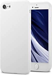 TENOC Phone Case Compatible for Apple iPhone SE 2020, iPhone 8 & iPhone 7 4.7 Inch, Slim Fit Cases Soft TPU Bumper Protective Cover, Glossy White