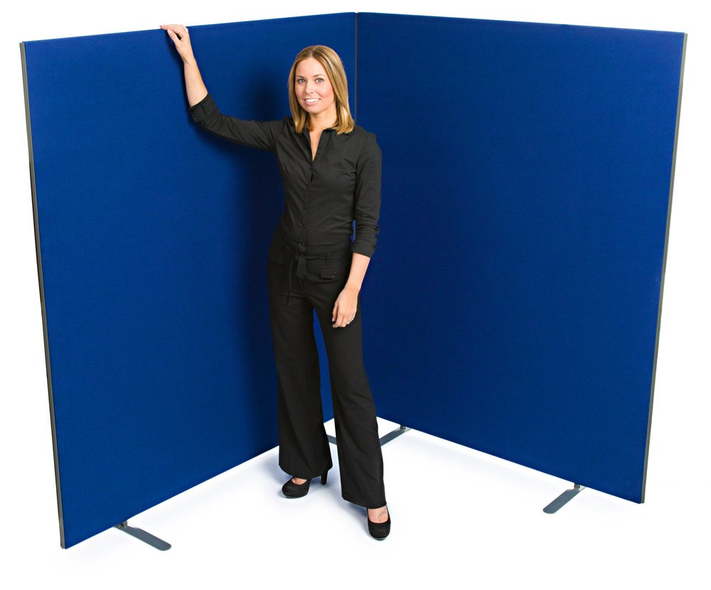 """Speedy"" Linkable Office Screen/Room Partition 1800mm High x 1200 mm wide Royal Blue XL Displays Ltd"