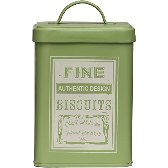 Premier Housewares Whitby Olive Green Biscuit Tin