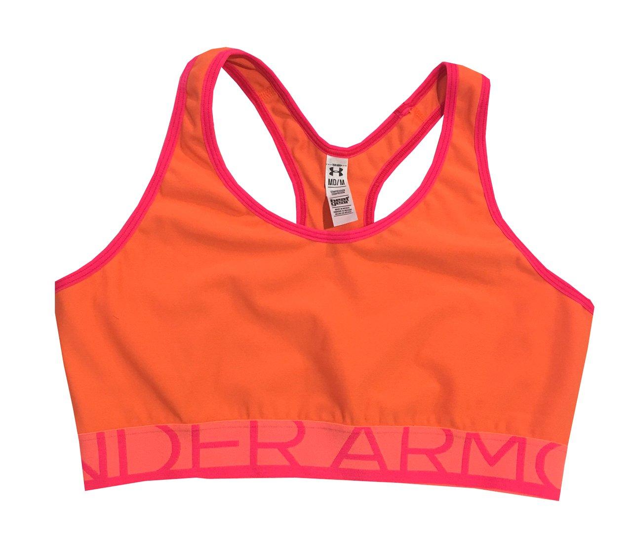 Under Armour Women's UA Still Gotta Have It Sports Bra (Medium, Citrus Blast (800))