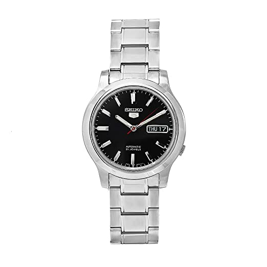 Seiko Men S Snk795k1s Stainless Steel Analog With Black Dial Watch