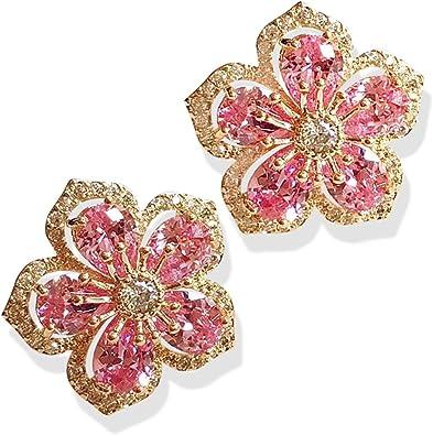 Beige Dahlia Flower Jewelry Kids Jewelry Earrings for Girl Small Earrings For Woman Floral Earrings Dangle Flower Cabochon Jewelry