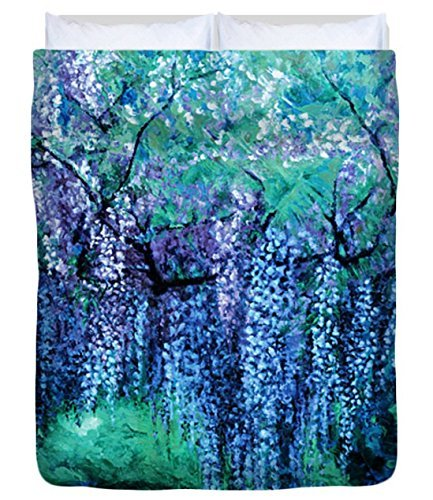 The Wind Whispers Wisteria, Ocean - Duvet Cover, Queen by Julie Turner Gallery: Home Decor, etc.