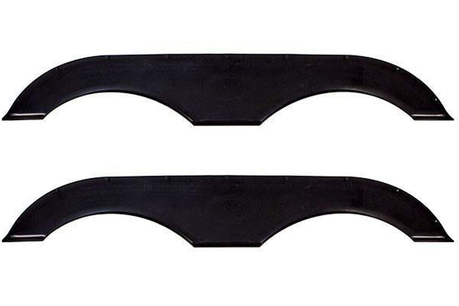 Alpha Systems Pair of Tandem Trailer Fender Skirt - Black by Alpha Systems