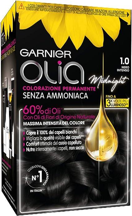 Coloración permanente y decoloración Garnier Olia 1.0 Nero Intenso