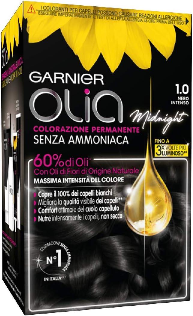 Coloración permanente y decoloración Garnier Olia 1.0 Nero ...