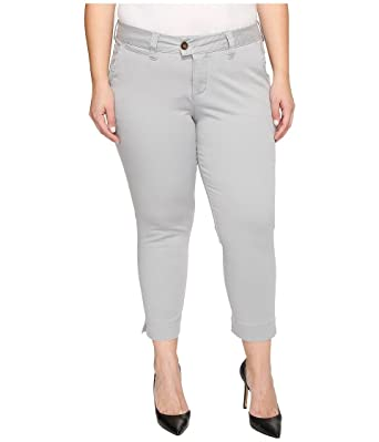 852bbfaf3f5 Jag Jeans Plus Size Women s Plus Size Creston Ankle Crop in Bay Twill  Shadow Pants at Amazon Women s Clothing store