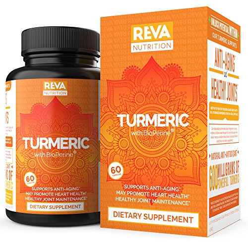 Premium Turmeric Curcumin 95% with Bioperine - Healthy Joint Pain Relief - Black Pepper for Absorbtion, Full Antioxidant, All Natural Non-GMO Formula