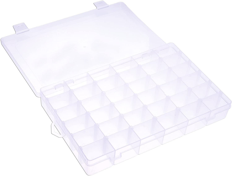 36 Compartment Craft Organizer Plastic Box Jewelry Bead Storage Container USA