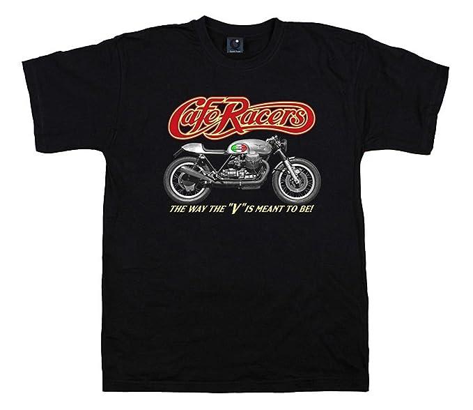 Quaint Point Guzzi Cafe Racers Bikers camiseta hombre T-shirt MOTO7 (S)