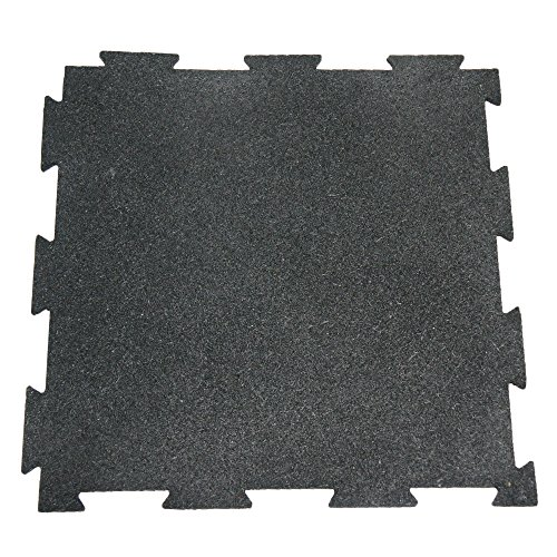 Rubber-Cal Puzzle Lock Interlocking Floor Tiles-Pack of 10