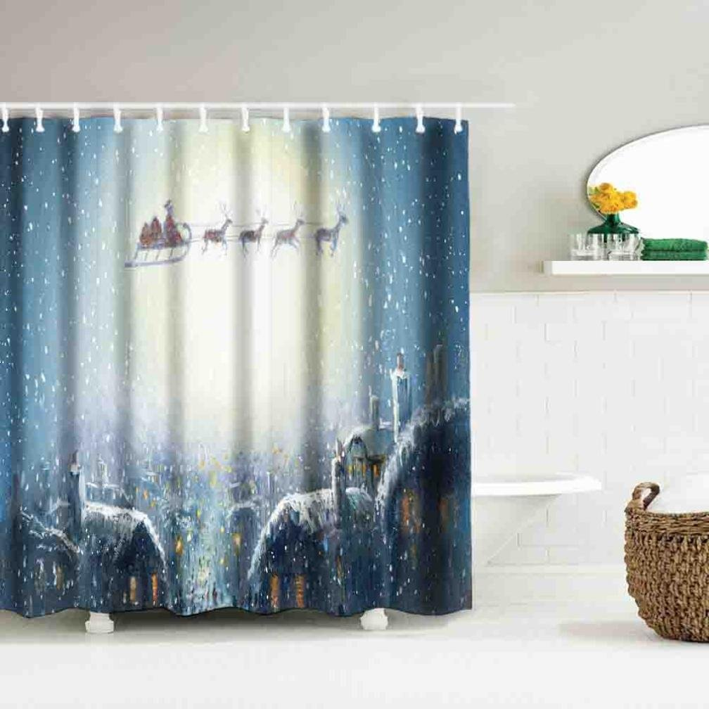 Bescita Weihnachten Wasserdicht Polyester Badezimmer Dusche ...