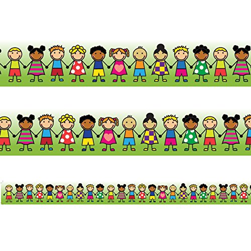 Classroom Friends Classroom display Borders/Trimmers. Confezioni da 12metres. Classroom Capers