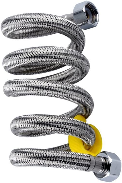Naisidier tubo di acqua intrecciato in acciaio inox tubo flessibile scaldabagno tubo doppia testa 30/cm 1PC