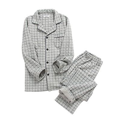 Traje de Pijama de otoño e Invierno Pure Cotton Men # 01 ...