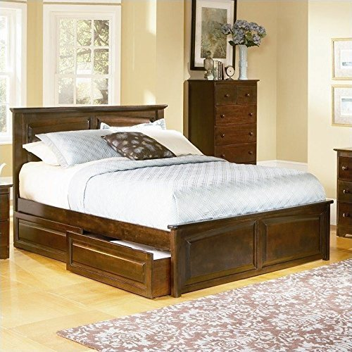ioneyes furniture monterey platform bed w trundle in antique (Furniture Monterey Twin Platform)