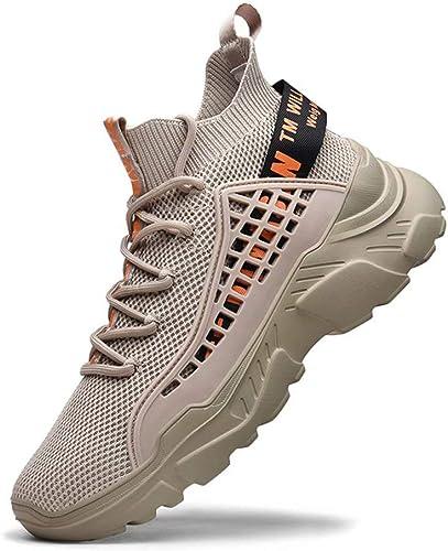 FUSHITON Chaussure Homme Sneakers Baskets Montante Mode Chaussures de Course Marche Respirante Décontractées